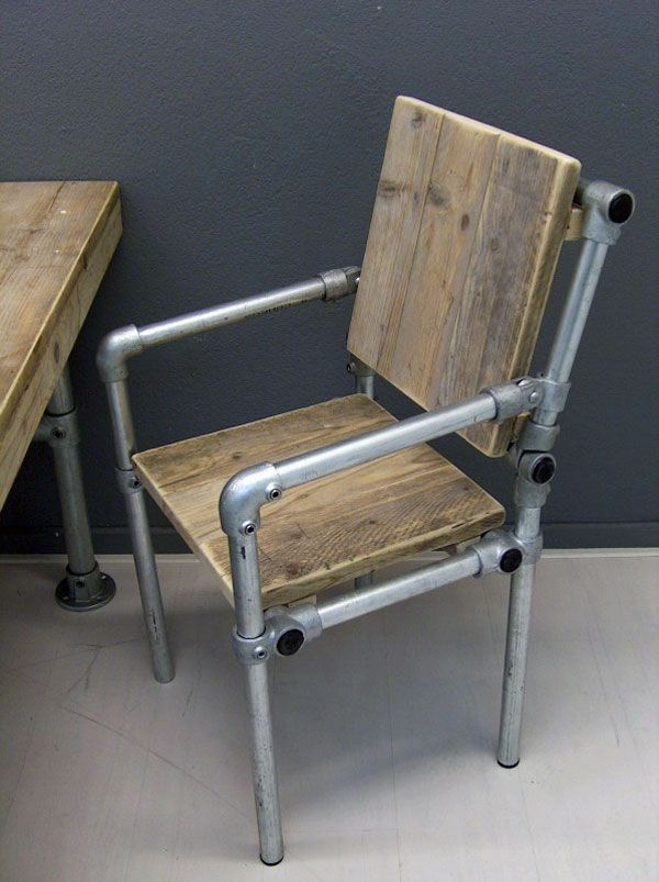 Industrial Pipe Chair  Pipe Furniture  Pinterest  Pipes