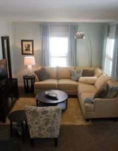 Blue and beige home decoration pinterest small space living room rooms spaces also rh