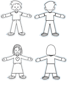 Flat Stanley cutouts. So much cuter than the regular ones
