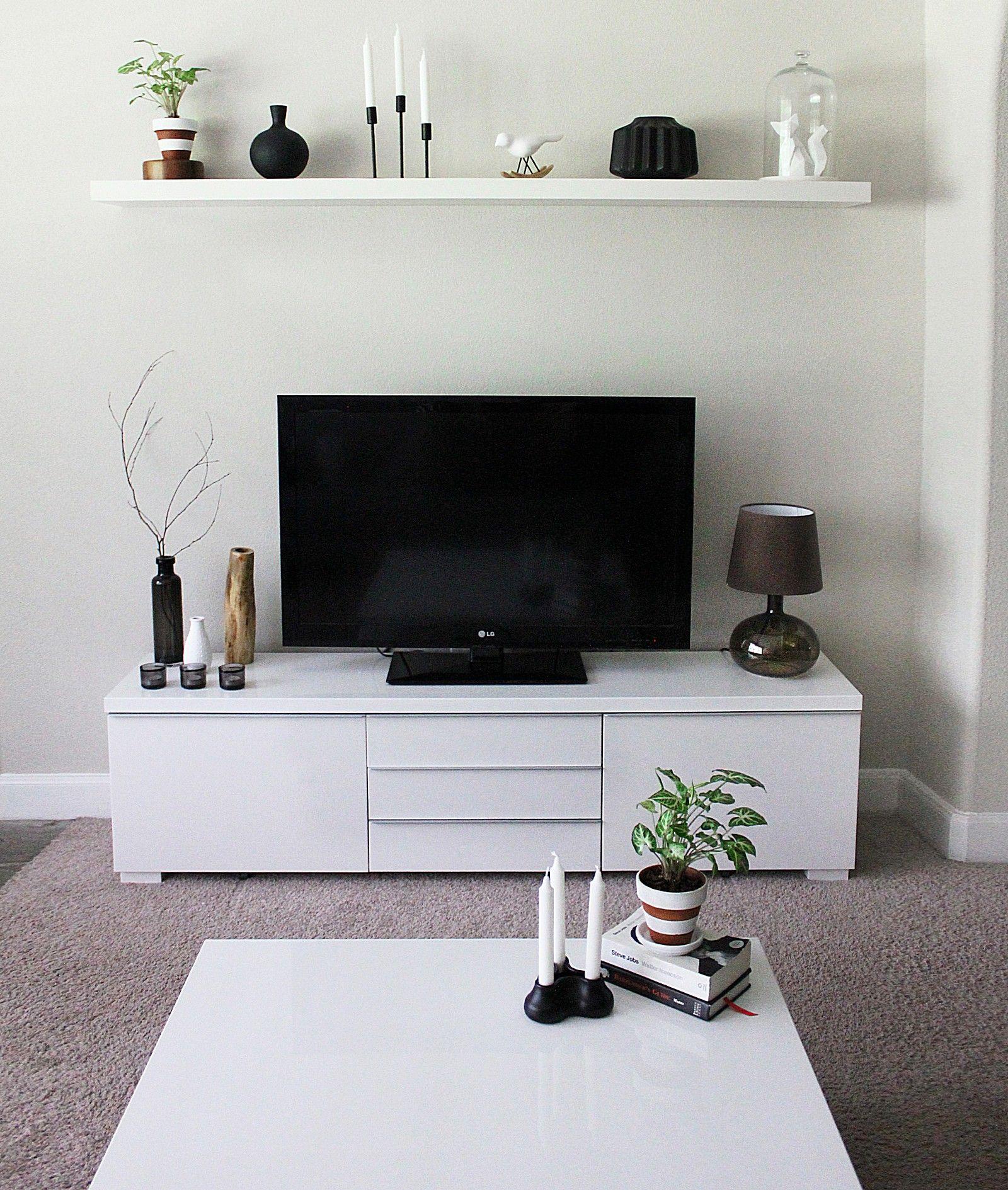Minimalist TV Stand and Cabinet IKEA Besta  Interiors