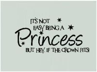 Princess Girls Teen Room Bedroom Wall Decor Words Letters ...