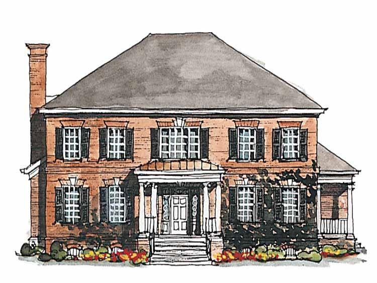 Georgian House Plan with 3380 Square Feet and 4 Bedrooms(s