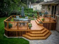 Cool Backyard Deck Design Idea 19 | Backyard deck designs ...