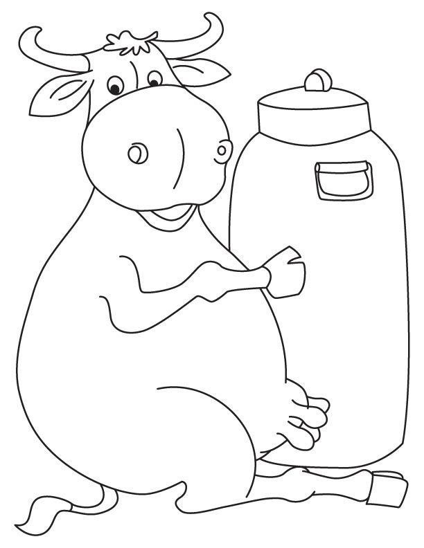 milkman buffalo coloring page  coloring pages  pinterest