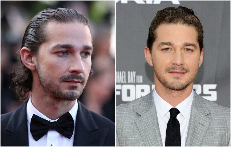 Promi Frisuren Männer Sleek Look Shia Labeouf #frisuren #hairstyle