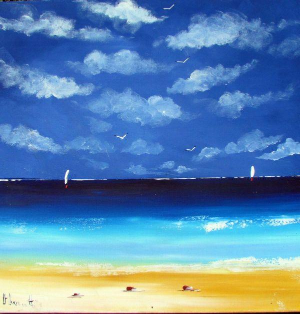Acrylic Painting Beach Scene