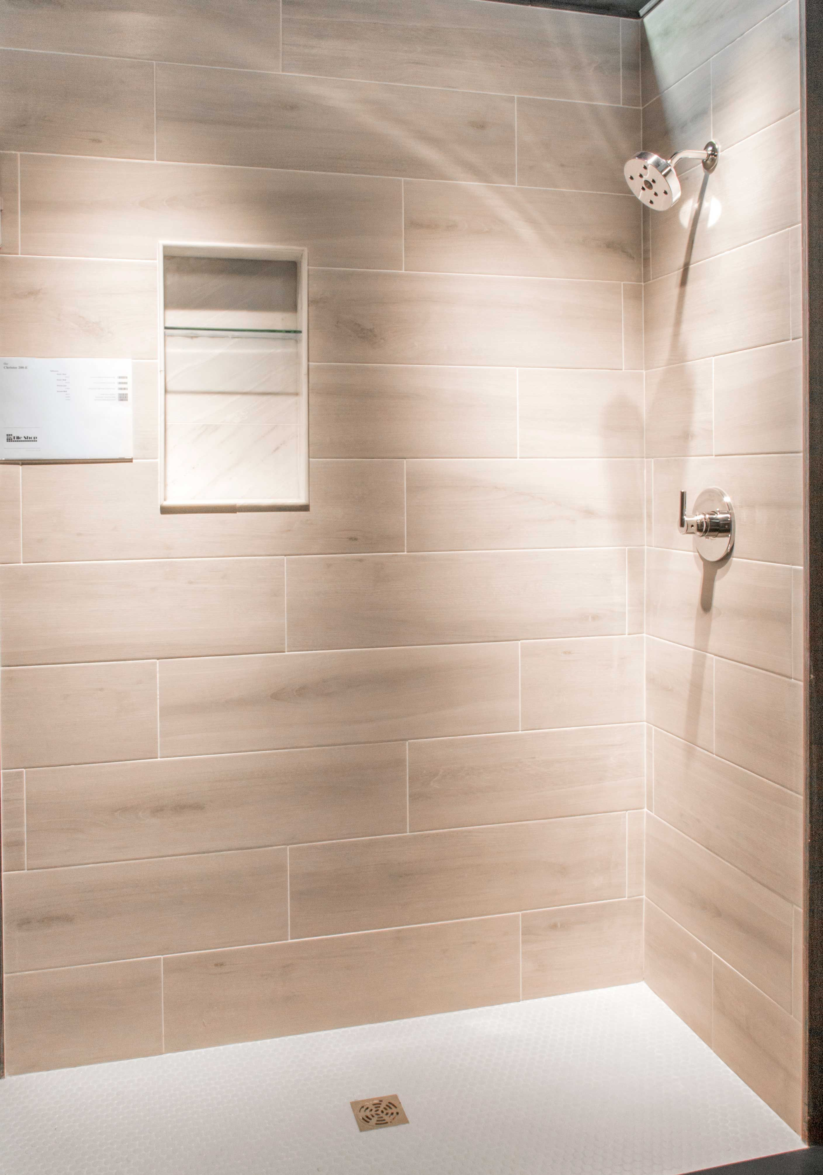 Bathroom shower wall tile