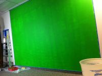 Neon Green Paint Walls: chroma key green screen wall ...