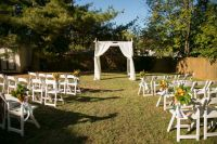 Simple outdoor wedding ceremony setup & decor from from ...