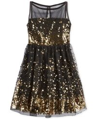 Ruby Rox Girls' Sequin Illusion Dress - Kids - Macy's ...