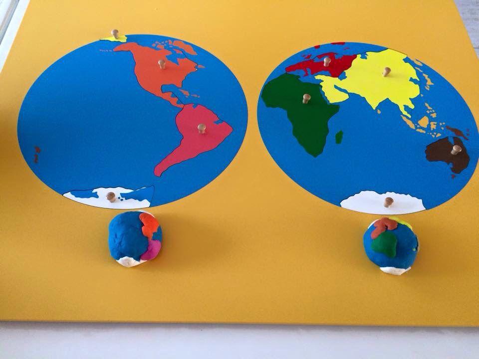 Planisferio  Montessori  Pinterest  Montessori