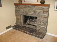 covering marble fireplace with slate tile - Google Search ...