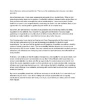 Write A Student Council Speech President Speech Student Council