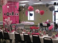 Zebra and hot pink Baby Shower Party Ideas | Zebra baby ...