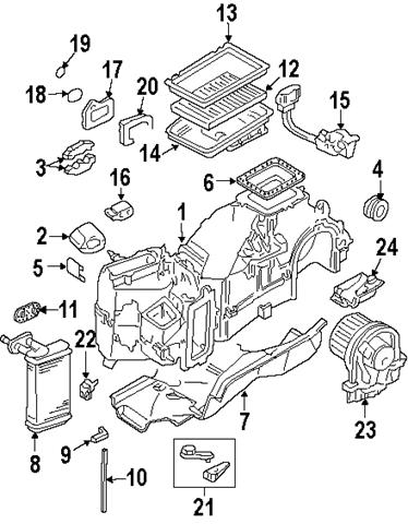 Volkswagen-Beetle-Convertible-AC-Evaporator-Heater-Parts