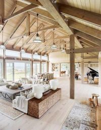 Barn House Vaulted Ceilings Living Room: a beach barn ...