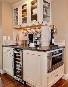 Corner counter love the coffee bar and wine wrack itd just be nice to also rh pinterest