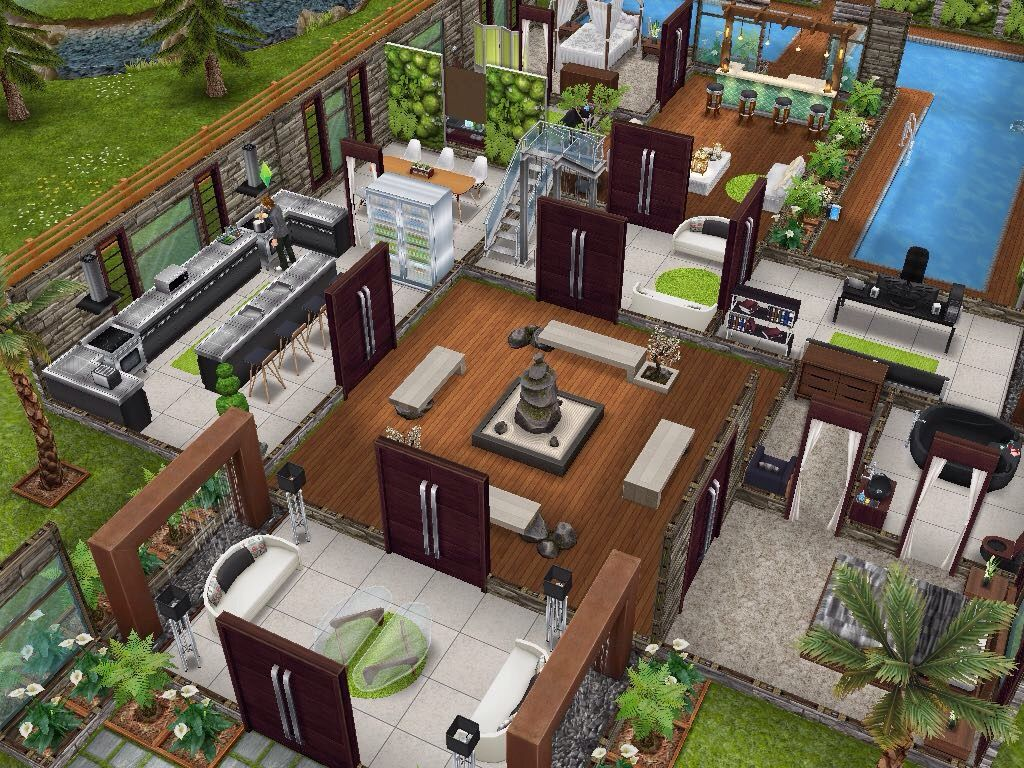 House 63 Level 1 #sims #simsfreeplay #simshousedesign My Sims