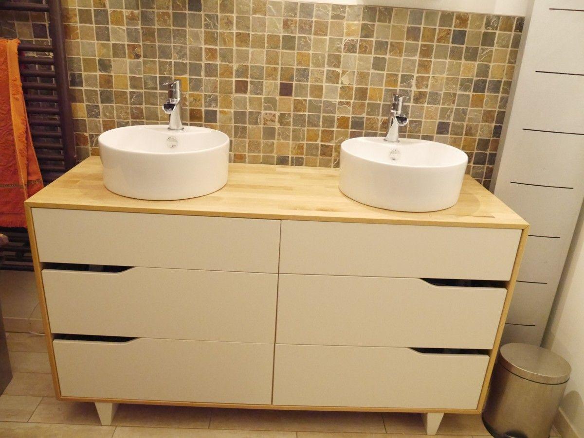Meuble salle de bain double vasque - Plan de salle de bain ikea ...