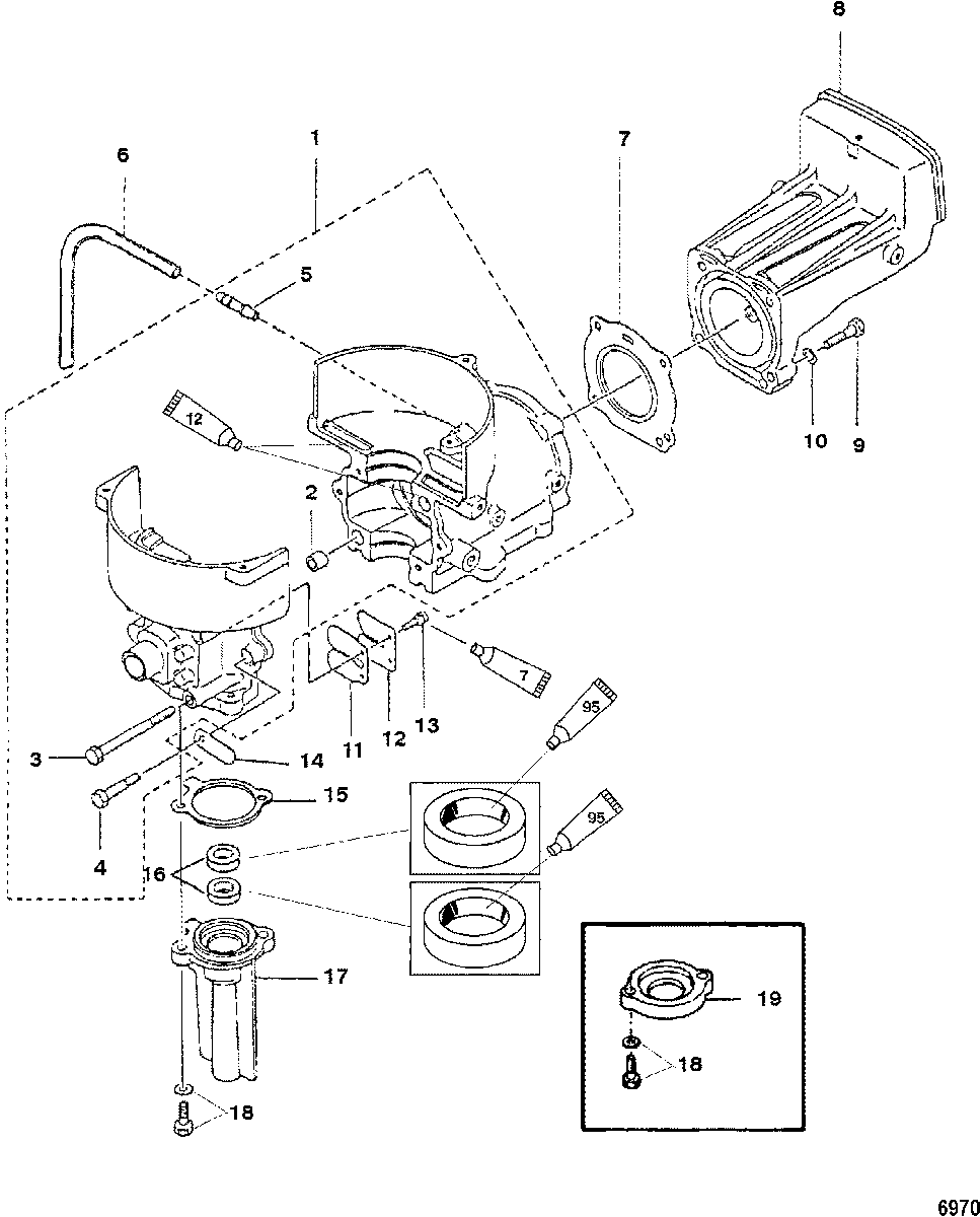 Mercury mariner 2 2 5 3 3hp 2 stroke cylinder block · block diagr arts