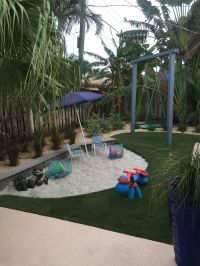 Backyard beach ,Modern sandbox, Platform swing ,Coastal