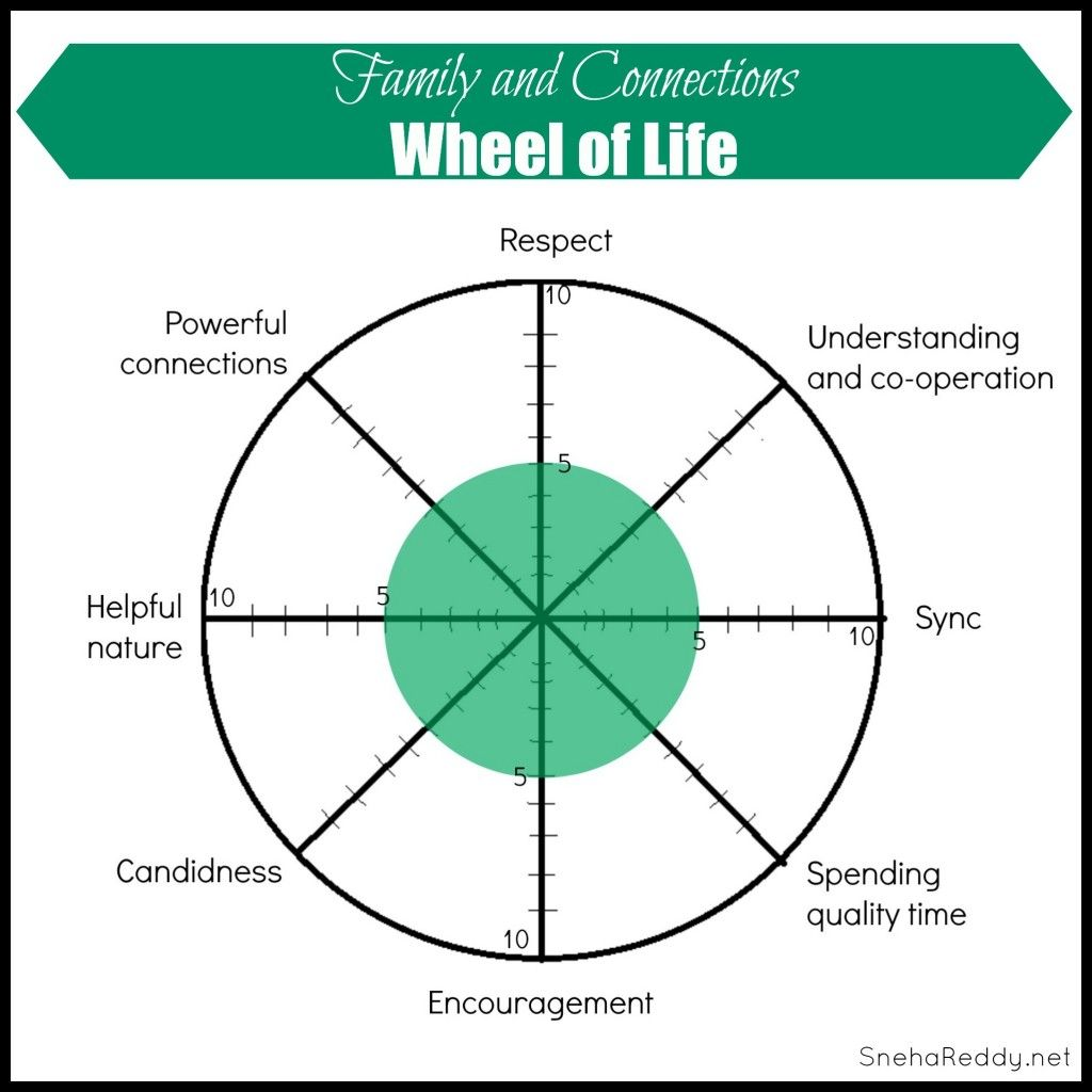 Wheel Of Life Family And Connections
