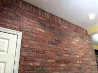 How to Install Brick Veneer on a Wall | Brick accent walls ...