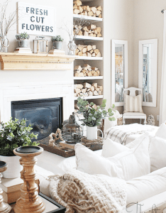 Modern farmhouse living room decor and decorating ideas spring fixer upper style also rh pinterest
