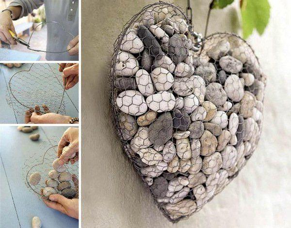 DIY Deko Ideen herzen kiesel steine  Idee  Pinterest  Diy deko ideen Diy deko und Deko ideen