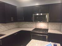 3 X 6 Marble subway tile backsplash, Ikea laxarby cabinets ...