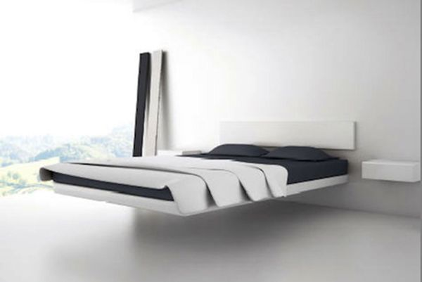 Modern Floating Platform Bed Frame