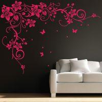Butterfly Vine Flower Wall Art Stickers, Decals 031 BUY ...