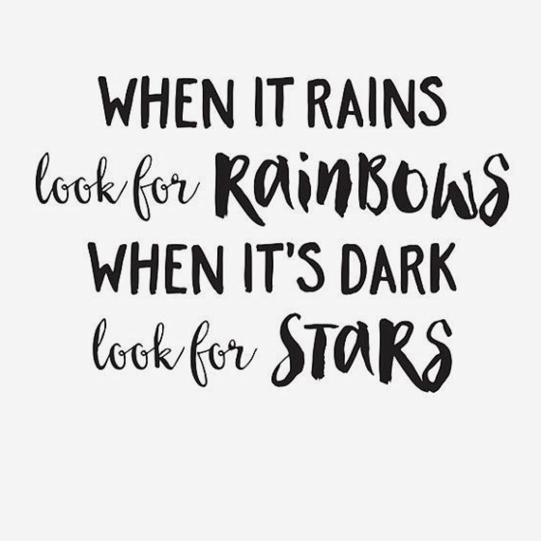 #Loves this #Quote ️ #Rain #Rainbows #Stars #inspiration #