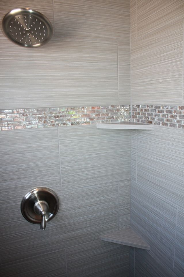 Tile design in master bathroom shower