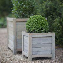 Discover Garden Trading Wooden Planter - 40cm Amara