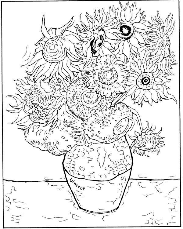 coloring page Vincent van Gogh Kids-n-Fun http://www.kids