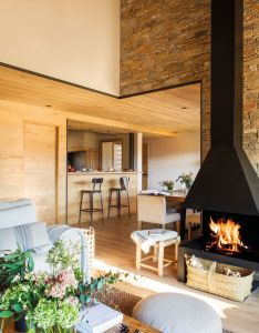 Home decor and interior decorating ideas living room with fireplace also mountain view in cerdanya it   the region of spain rh pinterest