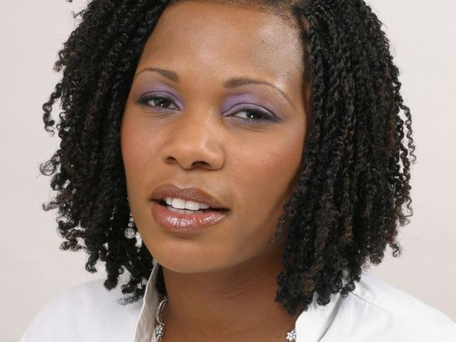 distinctive kinky twist hairstyles : natural hairstyles for short