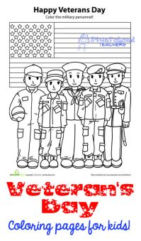 Veterans Day Coloring Pages & Activities for Kids ...