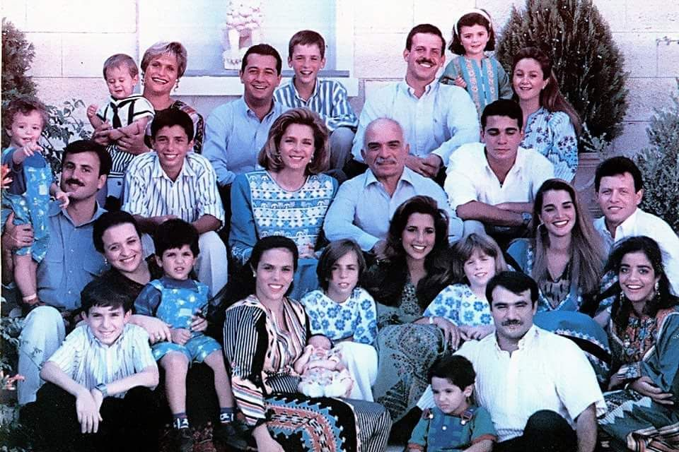 King Hussein With His Wife Queen Noor And His Children's
