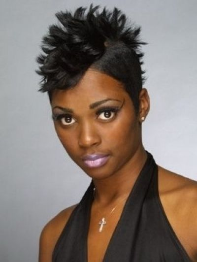 Spiky Mohawk Hairstyle For African American Women Black Women