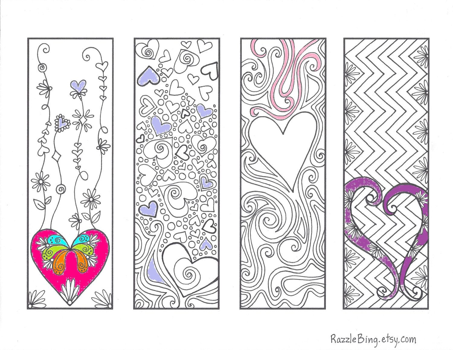 Free Printable Coloring Bookmarks For S