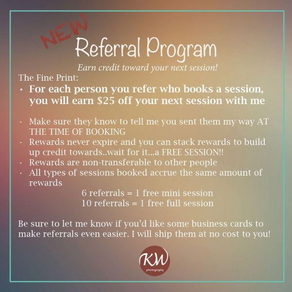 Referral Program Programming Facebook And Salons