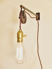 Vintage Industrial Pulley Sconce - Wall Mount Pendant ...
