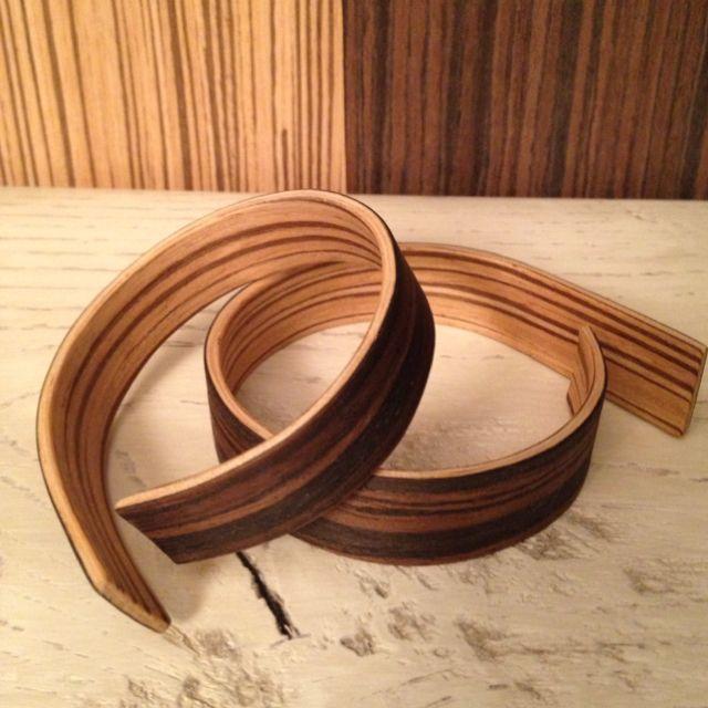 """Bracelet """"#6"""". Laminated wood veneers"""