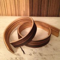 "Bracelet ""#6"". Laminated wood veneers"