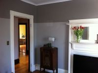two tone gray walls | Painting ideas | Pinterest | Gray ...