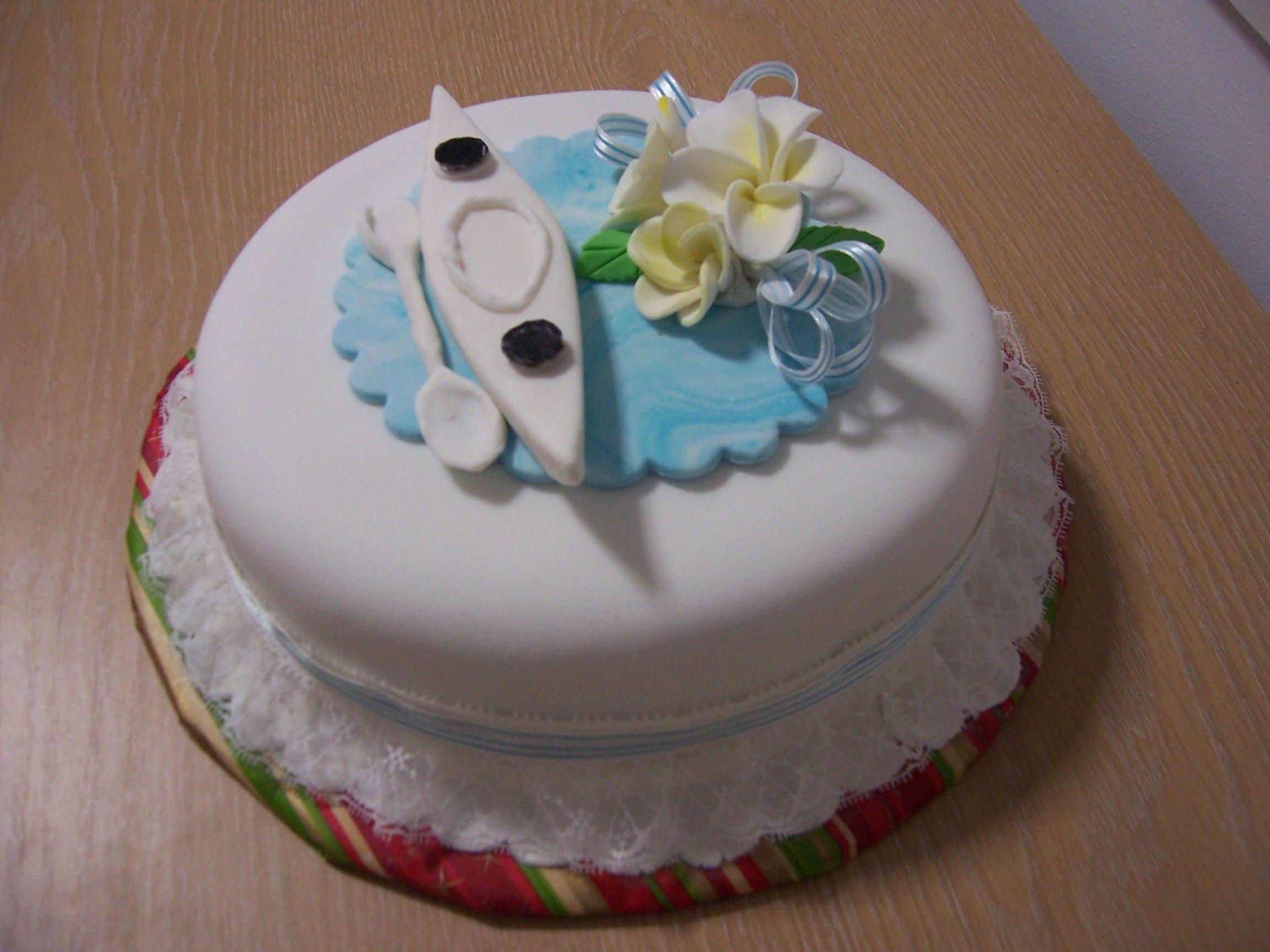 Kayak Birthday Cake Made By Henny
