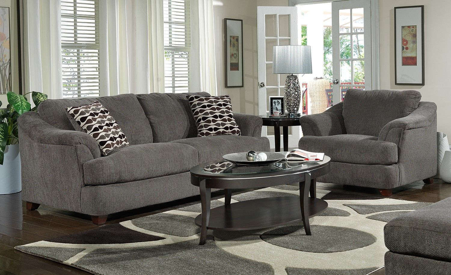 dark gray sofa living room ideas que es un en ingles grey decor curtain menzilperde net