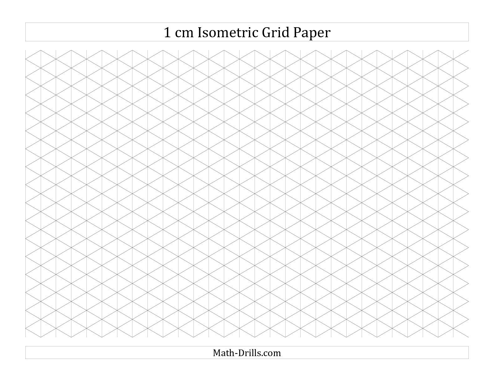 1 Cm Isometric Grid Paper Landscape A Math Worksheet